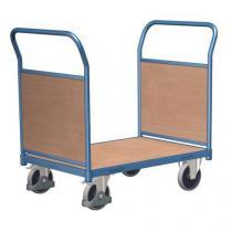 Plošinový vozík se dvěma madly s plnou výplní, do 500 kg, 100,6 x 139 x 80 cm
