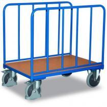 Plošinový vozík se dvěma vyztuženými stěnami, do 500 kg, 103,6 x 126 x 80 cm