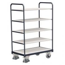 Vysoký antistatický policový vozík, do 250 kg, 5 polic