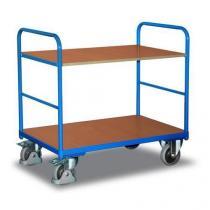 Policový vozík, do 250 kg, 2 police, 98,6 x 106 x 70 cm