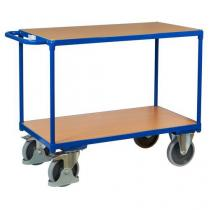 Policový vozík s madlem, do 500 kg, 2 police, 91,5 x 119 x 60 cm