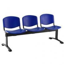 Plastová lavice Ida, třímístná, modrá