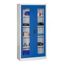 Dílenská skříň na nářadí, 195 x 95 x 40 cm, šedá/modrá