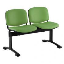 Koženková lavice Ida, dvumístná, zelená