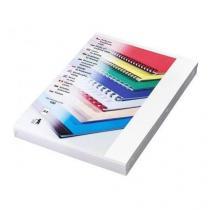 Desky pro kroužkovou vazbu, lesklý karton, bílé