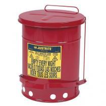 Kovový odpadkový koš pro hořlavé a nebezpečné látky, objem 23 l, červený