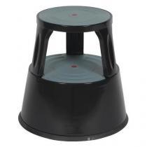 Pojízdné kovové stupátko, černé