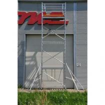 Pojízdné hliníkové lešení s plošinou, 3,7 m