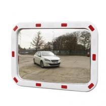 Dopravní obdélníkové zrcadlo Manutan, 400 x 600 mm