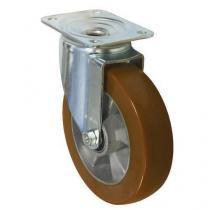 Polyuretanové transportní kolo s přírubou, průměr 200 mm, otočné, valivé ložisko