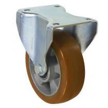 Polyuretanové transportní kolo s přírubou, průměr 160 mm, valivé ložisko