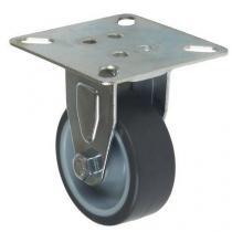 Gumové přístrojové kolo s přírubou, průměr 50 mm, kluzné ložisko
