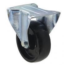 Fenolové transportní kolo s přírubou, průměr 100 mm, kluzné ložisko, teplotně odolné