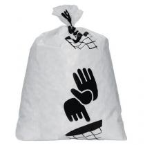 Pytle na odpad Manutan, 60 l, tloušťka 80 mic, 100 ks, bílé
