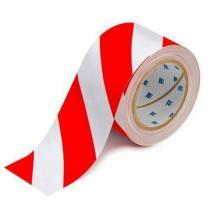 Podlahová páska Brady ToughStripe, červená/bílá