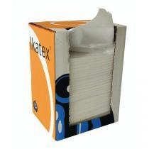 Průmyslové textilní utěrky Manutan, bílé, 1vrstvé, 150 útržků