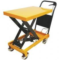 Mobilní hydraulický zvedací stůl Manutan, do 300 kg, deska 81,5 x 50 cm
