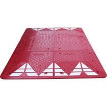 Zpomalovací polštář, 6,5 x 300 x 180 cm, červený