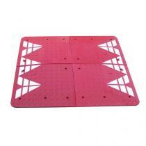 Zpomalovací polštář, 6,5 x 200 x 180 cm, červený