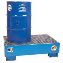 Ocelová záchytná vana IBS H10 s roštem, pro 2 sudy