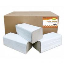 Papírové ručníky ZZ Grey Standard S 1vrstvé, 250 útržků, šedé, 20 ks
