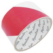Vyznačovací páska Manutan, šířka 50 mm, bílá/červená