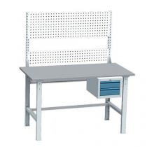 Montážní dílenský stůl včetně kontejneru a perfo-panelu