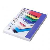 Desky pro kroužkovou vazbu, lesklý karton, modré
