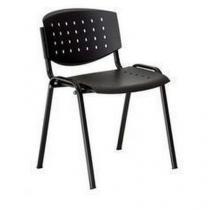 Plastová jídelní židle Layer, černá