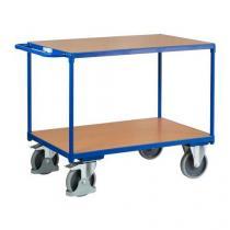 Policový vozík s madlem, do 500 kg, 2 police, 91,5 x 119 x 70 cm