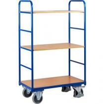 Vysoký policový vozík do 250 kg, 3 police, 91 x 50 x 153 cm