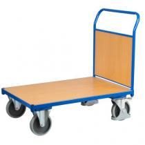 Plošinový vozík s madlem s plnou výplní, do 500 kg, 100,6 x 132,5 x 80 cm