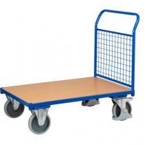 Plošinový vozík s madlem s mřížovou výplní, do 500 kg, 100,6 x 112,5 x 70 cm