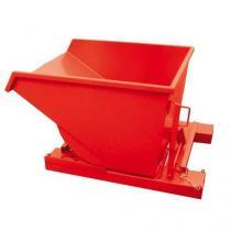 Výklopný kontejner, objem 1 700 l, červený