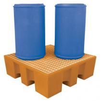 Plastová záchytná vana Manutan s plastovým roštem, kapacita 450 l