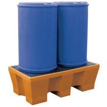 Plastová záchytná vana Manutan s kovovým roštem, kapacita 240 l