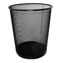 Drátěný odpadkový koš Rib, objem 12 l, černý