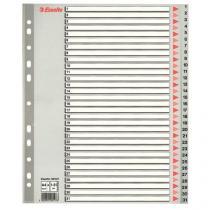 Plastové rozdružovače Maxi, číselné, 5 ks, 12 oddílů