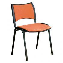 Konferenční židle Smart Black, oranžová