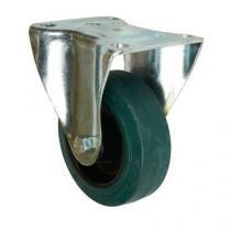 Gumové transportní kolo s přírubou, průměr 100 mm, valivé ložisko