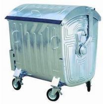 Kovová venkovní popelnice, objem 1 100 l