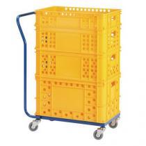 Plošinový vozík na přepravky s pevným madlem, do 150 kg