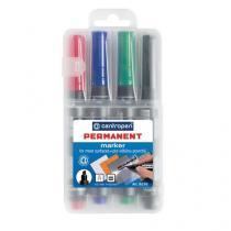 Permanentní značkovač Centropen 8576, 4 ks, mix barev