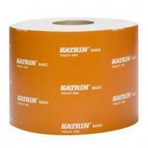 Toaletní papír Katrin Basic Toilet 490, 2vrstvý, 14 x 0,9 cm, 490 útržků, bílá, 36 rolí