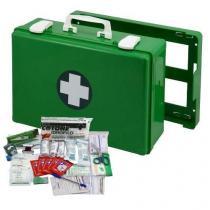 Plastový kufr první pomoci se stěnovým držákem, 27 x 40 x 14 cm, s náplní KANCELÁŘ