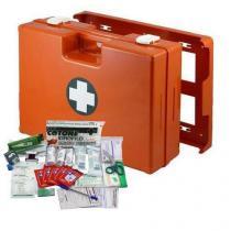 Plastový kufr první pomoci se stěnovým držákem, 33,8 x 44,3 x 14,7 cm, s náplní KANCELÁŘ