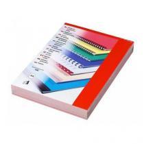 Desky pro kroužkovou vazbu, lesklý karton, červené