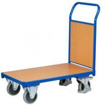 Plošinový vozík s madlem s plnou výplní, do 400 kg