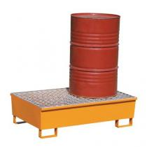 Ocelová záchytná vana Manutan, pro 2 sudy, kapacita 220 l, lakovaná