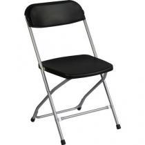 Plastová jídelní židle Poly, černá